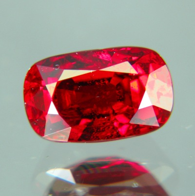 long cushion cut untreated ruby over 2 carat