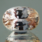 tanzanian white padparadscha oval shape no-heat not-treated