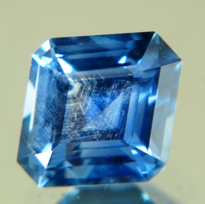 Deep marine blue Montana sapphire