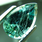 amazing teardrop shape pine green natural sapphire no treatments