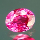 untreated pink oval spinel from vietnam