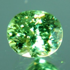 natural water green demantoid