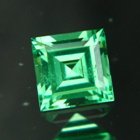 wonderful square cut green tsavorite natural untreated
