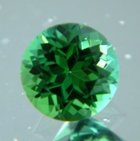 Fine Mint Tourmaline in prescision cut