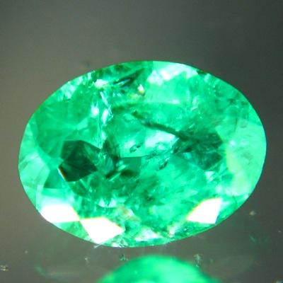 untreated zimbabwe emerald vivid green oval