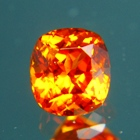 fire red mandarine garnet gemstone true colors no heat