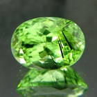 Himalaya peridot with lugwitite needles over ten carat