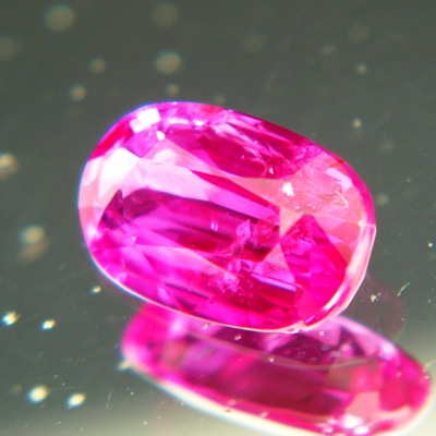 untreated Neon pink-red ruby 1.5 carat