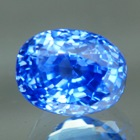 Fine cornflower blue Madagascar sapphire