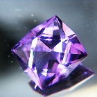 oval Rwandan amethyst unheated and natural in good cutting and finest natural color