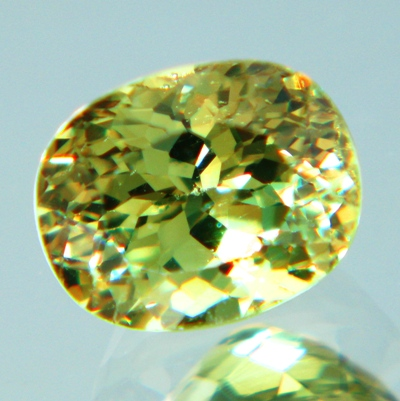 rainbow in luster of demantoid 100% free of inclusions