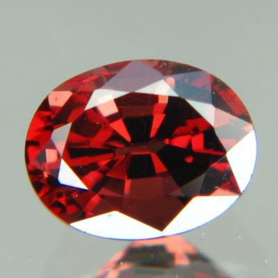 Dark amber red Burma spinel