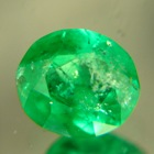 roundish emerald from sandawana