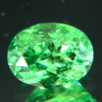 Plus two carat green garnet neon certified untreated