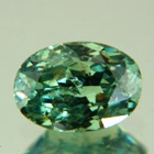 Green garnet demantoid with highest RI