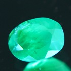 zimbabwe emerald oval oil only 0.9 carat