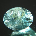 untreated cuprian paraiba tourmaline  with some inclusions or treatments trapezoid emerald cut in ov