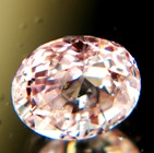 Orange pink peach Ceylon sapphire without treatments and GRS report