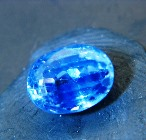 sky blue Ceylon near four carats sapphire without visible inclusions or treatments