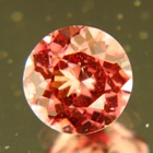 Deep orange pink Malaya garnet