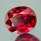 GRS certified unheated oval ruby in 1.55 carat with an orange tint (perhaps)