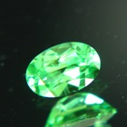 certified tsavorite in neon green