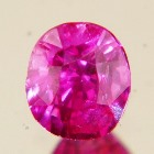 bubble gum pink brilliant unheated sapphire from Ceylon, unheated and natural, no window, no visible