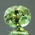 adamantine luster from green garnet demantoid
