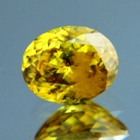 yellow sphene with adamantine luster