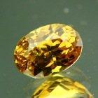 Deep golden yellow Madagascar sapphire