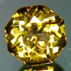 hexagon yellow tourmaline untreated