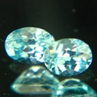 Pair of neon blue Australian Zircon.