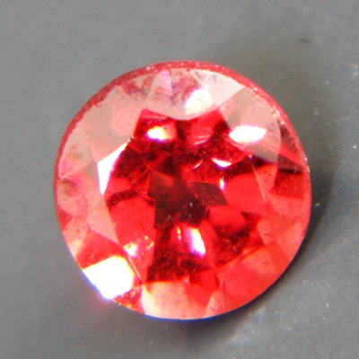 small brilliant untreated padparadscha garnet from Sri Lanka
