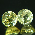round 6mm no-heat sapphires for a pair of studs in lemon yellow