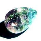 semi transparent 100% color change alexandrite from Zimbabwe in pear shape