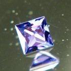 untreated violet princess cut sapphire