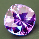 Unheated purple sapphire in finest cutting