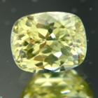 diamond like yellow zircon without heat treament