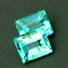 matching pair of certified untreated emeralds in highest quality