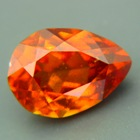 fine orange-red hessonite for pendant in untreated state from Sri Lanka