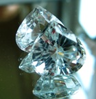 White pair of Vietnamese topaz