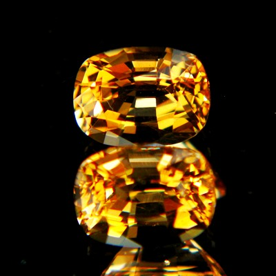 matching pair of certified unheated untreated imperial topaz in orange yellow