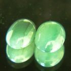 untreated pair of green jade type A