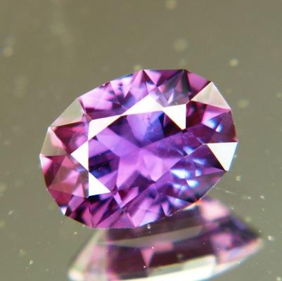 Deep purple violet Ceylon sapphire