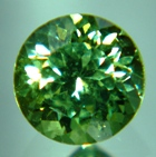 round solitary sparkly demantoid in best green