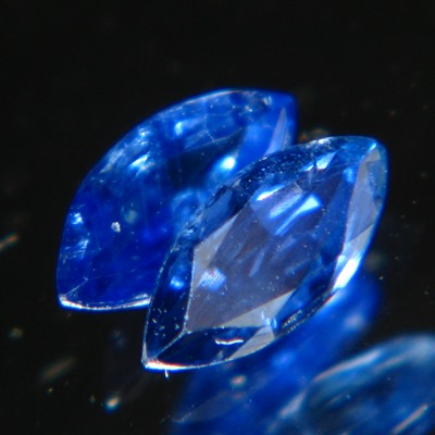 marquise pair in deep blue no-heat sapphires for a pair of studs in finest color for this size