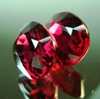 pair of natural red ruby's untreated