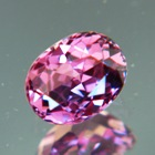 Lively pinkish purple Ceylon sapphire