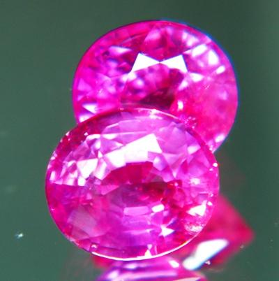 Deep neon pink African sapphire