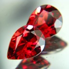 untreated and unheated red rhodolite garnets